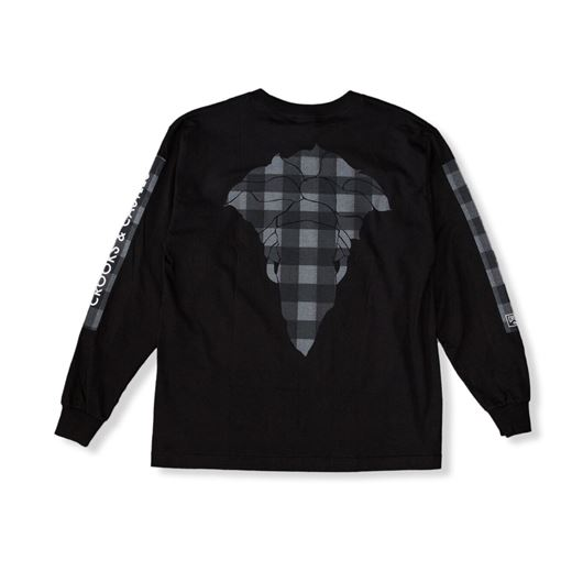 Picture of Spotted Bandusa L/S Tee Black