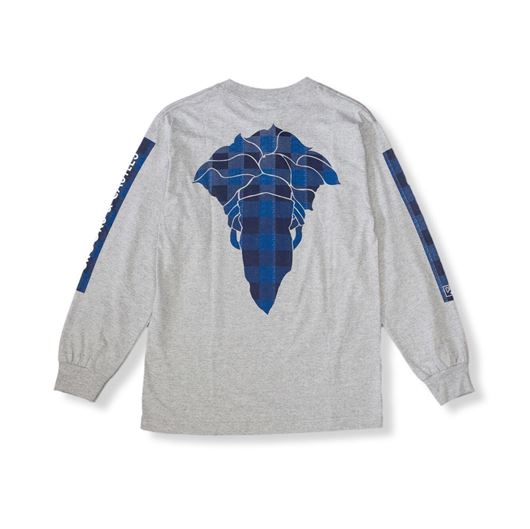 Picture of Spotted Bandusa L/S Tee Heather Grey