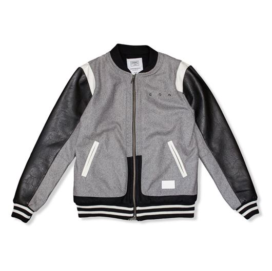 Picture of Challenger Varsity Jacket Heather Grey/Black