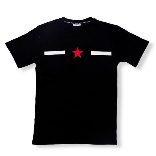 Picture of Vertical Star Tee Black