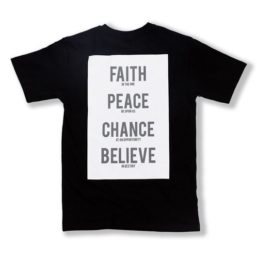 Picture of Words Tee Black