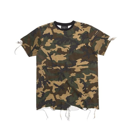 Picture of DESTROYED T-SHIRT Woodland Camo