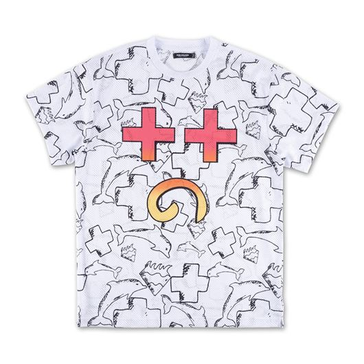 Picture of PSYCH FACE MESH TEE White