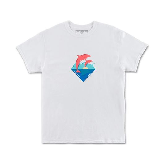 Picture of WAVES SUNSET TEE White