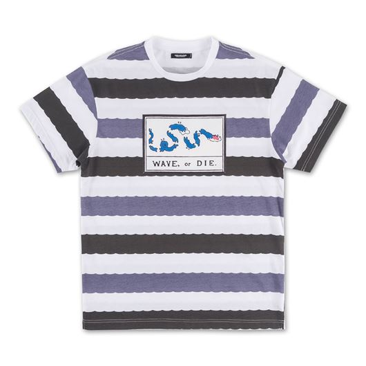 Picture of WAVE STRIPE TEE Grey