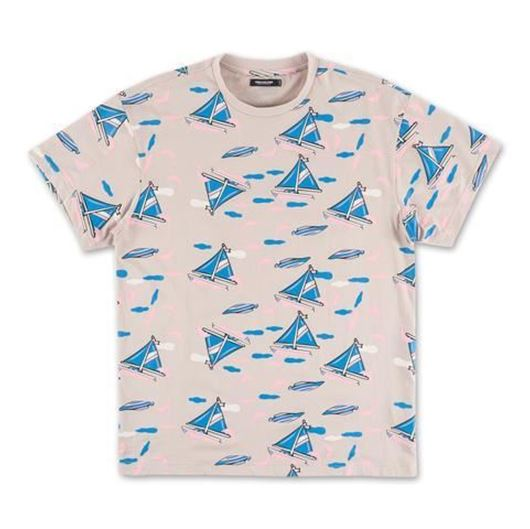 Picture of ALLOVER SAILBOAT TEE Dust