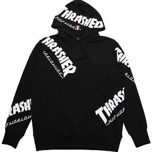 Picture of Thrasher TDS Allover Hood Black