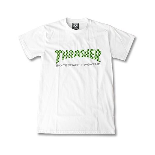 Picture of CHECKER SKATE MAG Tee White