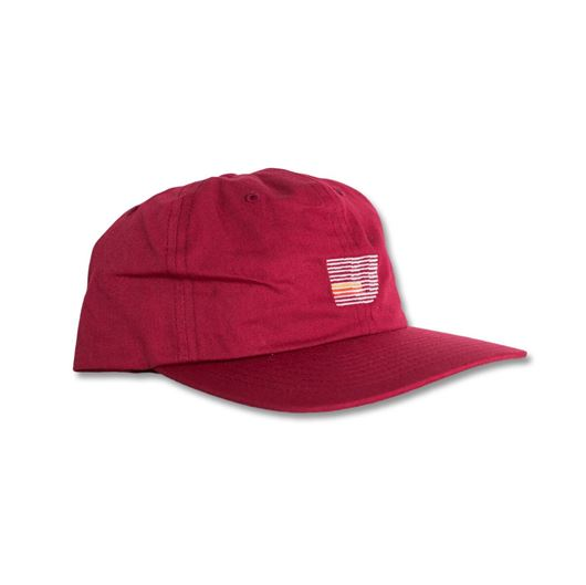 Picture of Speed Stripe Strapback Cap Burgundy