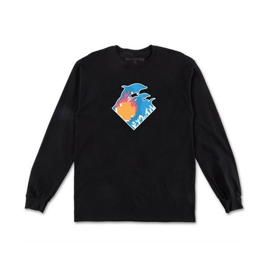 Picture of WAVE TOUR L/S TEE Black
