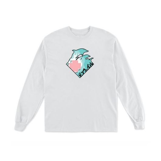 Picture of WAVE TOUR L/S TEE White