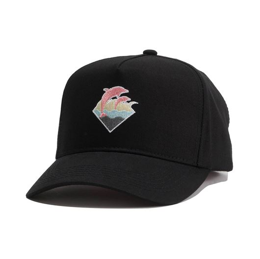 Picture of FALL WAVES SNAPBACK Black