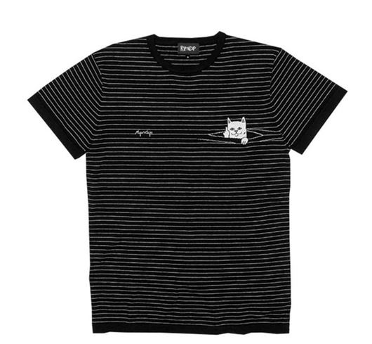 Picture of Peeking Nermal Jacquard Tee Black