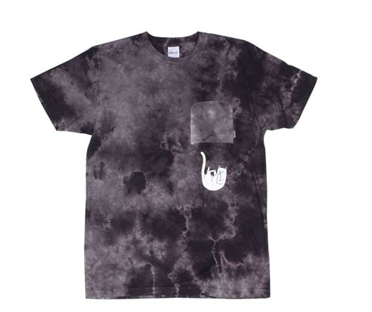 Picture of Falling For Nermal Pocket Tee Black Wash