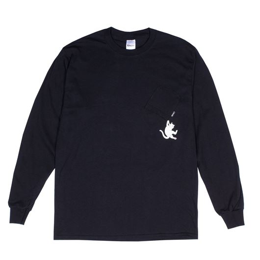 Picture of Hang In There L/S Tee Black