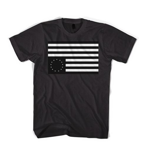 Picture of REBEL FLAG Tee Black/White