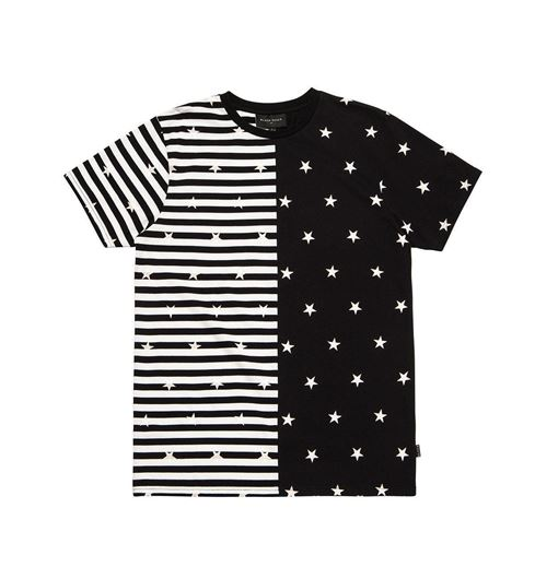 Picture of SPLIT STRIPE Tee Black