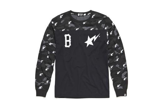 Picture of Bape x Black Scale L/S Jersey Black