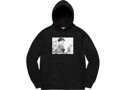 Picture of AKIRA Arm Hooded Sweatshirt Black