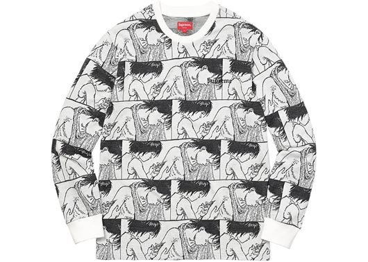 Picture of AKIRA Syringe Jacquard L/S Top White