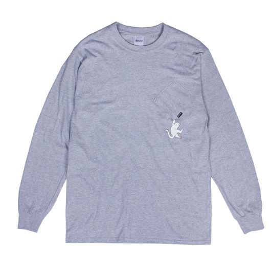 Picture of Hang In There L/S Tee Heather Grey