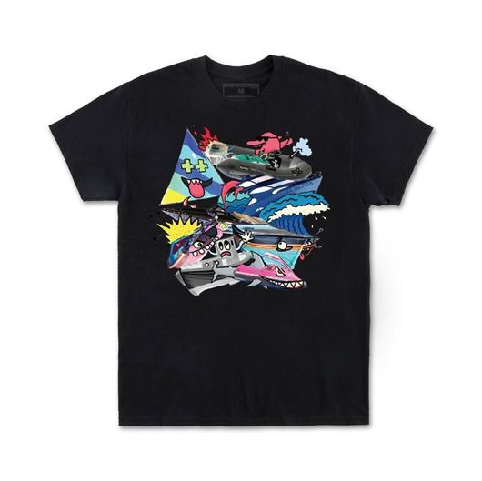 Picture of PILE UP TEE Black