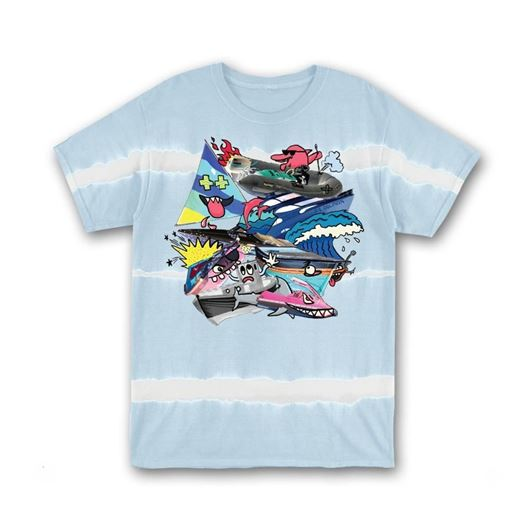Picture of PILE UP TEE GRAY BLUE DYE