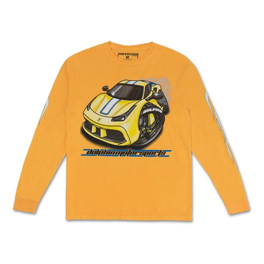 Picture of *LTD* BURNOUT L/S TEE Yellow