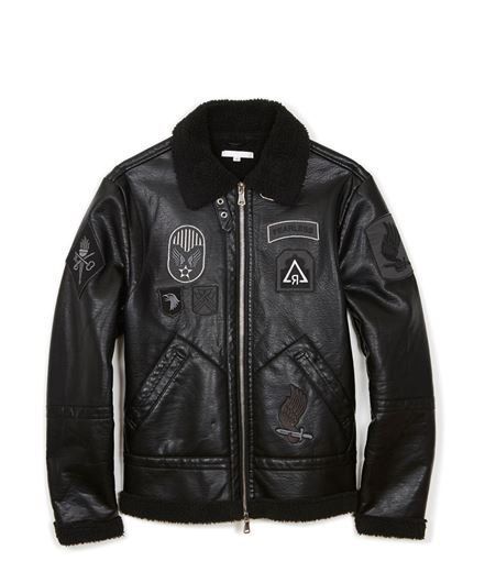 Picture of Nightstrike Shearling Jacket Black
