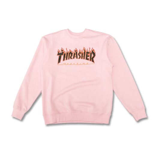Picture of FLAME CREWNECK Pink/Black