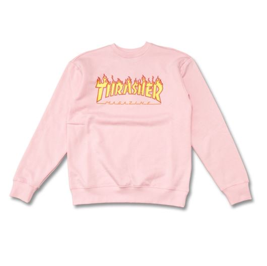 Picture of FLAME CREWNECK Pink/Yellow