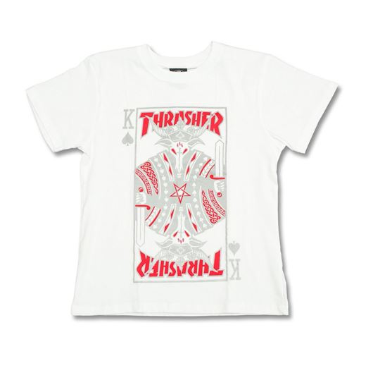 Picture of REFLECTIVE PLAYING CARD T-SHIRT White