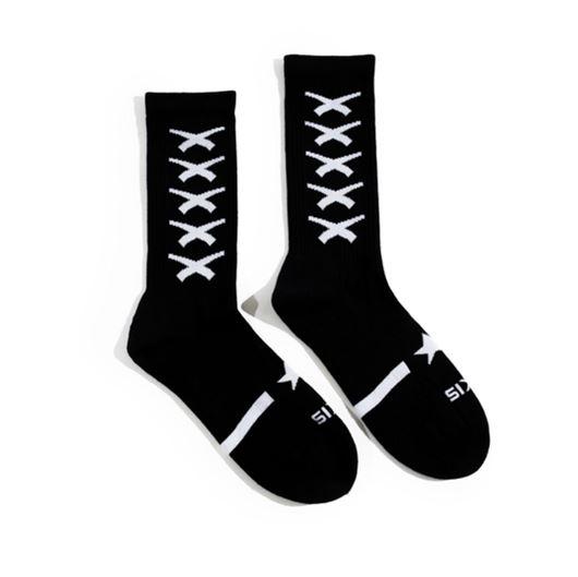 Picture of Cross Repeat Sock Black