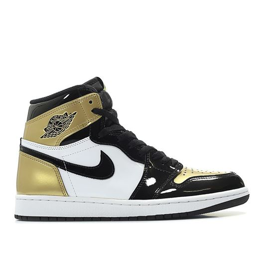 Picture of Nike Air Jordan 1 Retro High OG  'Gold Toe'