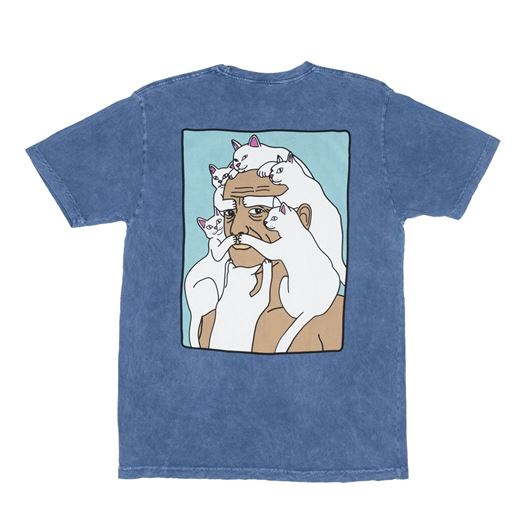 Picture of Nerm Beard Tee Blue Wash