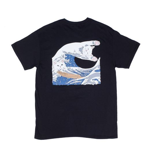 Picture of The Great Wave Of Nerm Tee Black