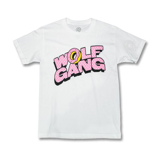 Picture of WOLF GANG CARTOON BLOCK TEE White