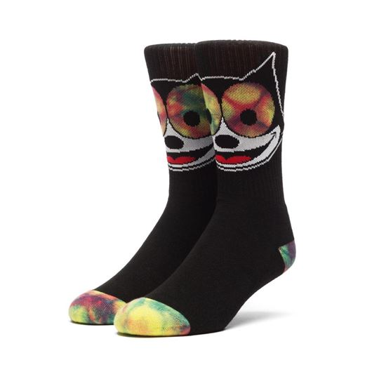Picture of FELIX HYPNOTIZE CREW SOCKS Black