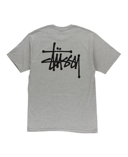 Picture of BASIC STUSSY TEE Heather Grey