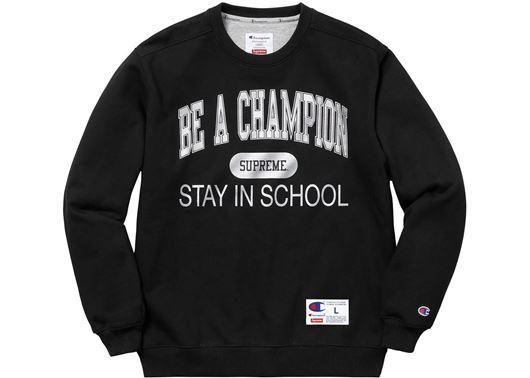 Picture of Supreme Champion Stay In School Crewneck Black
