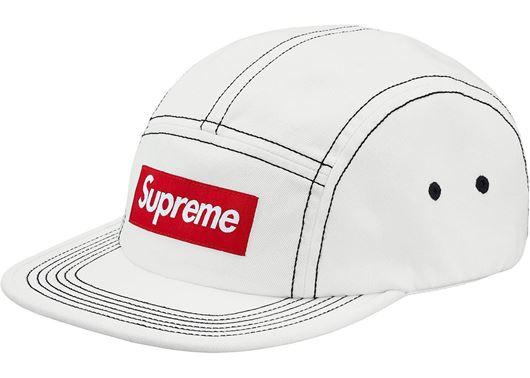 Picture of Supreme Contrast Stitch Camp Cap (SS18) White