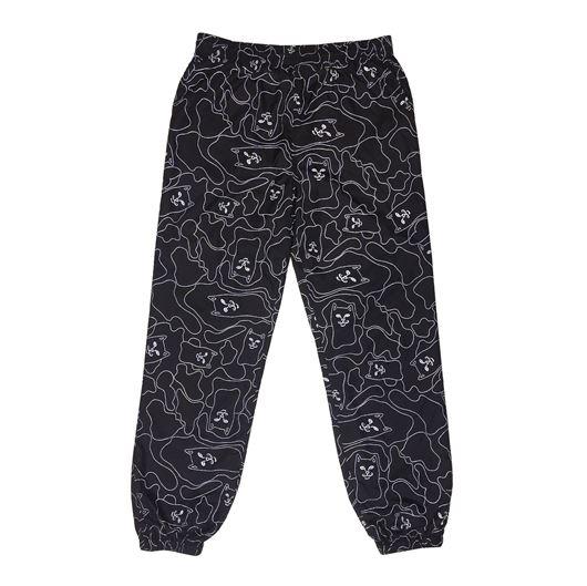 Picture of Nermal 3M Line Camo Swishy Pants Black 3M
