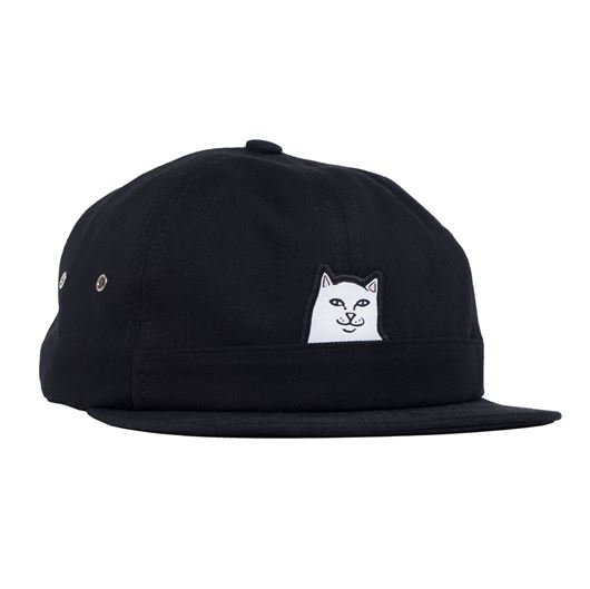 Picture of Lord Nermal 5 Panel Pocket Hat Black