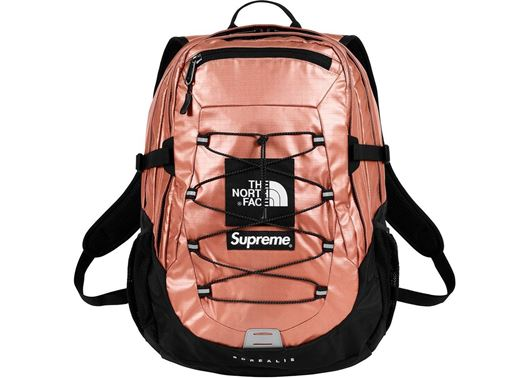 Picture of Supreme The North Face Metallic Borealis Backpack Rose Gold