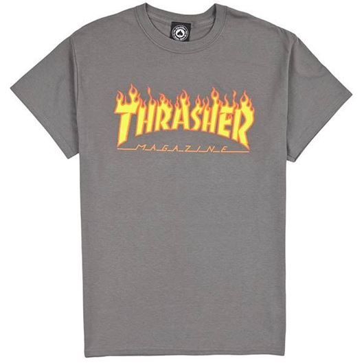 Picture of FLAME S/S Tee Charcoal