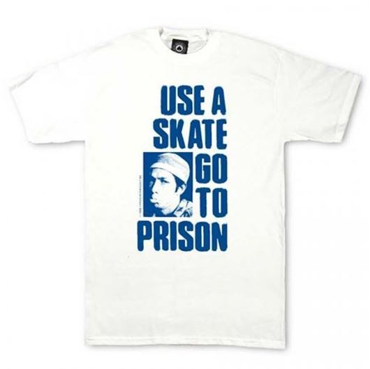 Picture of USE A SKATE GO TO PRISON Tee White