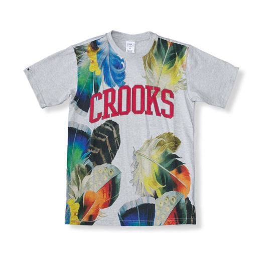 Picture of Crooks Floral Tee Heather Grey