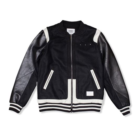 Picture of Challenger Varsity Jacket Black/White