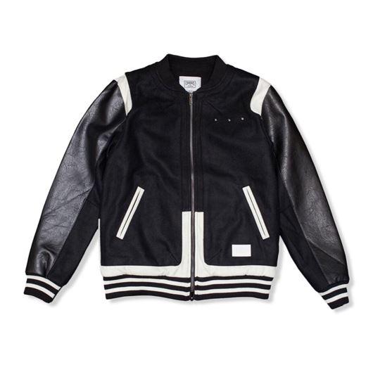 Picture of Challenger Varsity Jacket Black/White