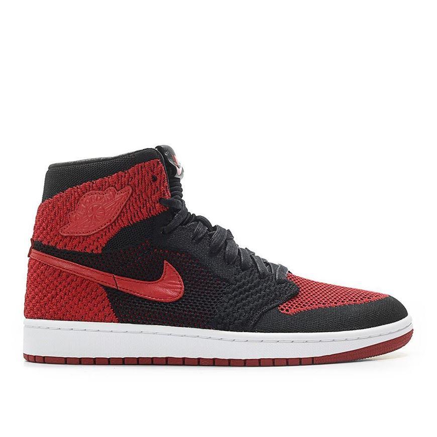 3e8e7683e5c8 Picture of Air Jordan 1 Retro High Flyknit Bred  Banned  Black Red
